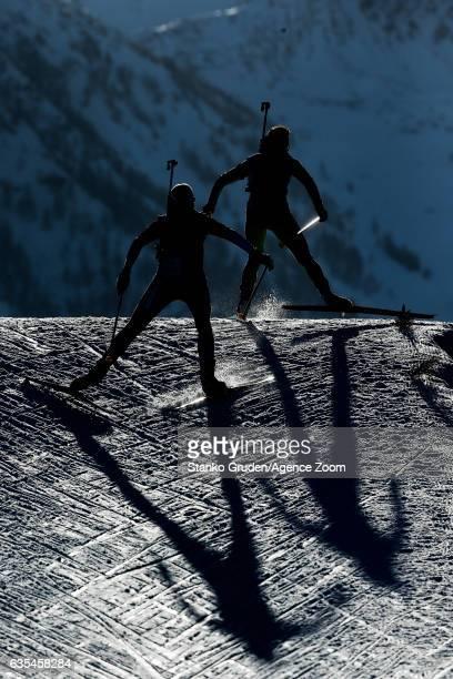 Amanda Lightfoot of Great Britain in action during the IBU Biathlon World Championships Women's Individual on February 15 2017 in Hochfilzen Austria