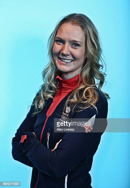 Amanda Lightfoot of Team GB Biathlon poses for a portrait during the kitting out day at adidas on January 20 2014 in Stockport England