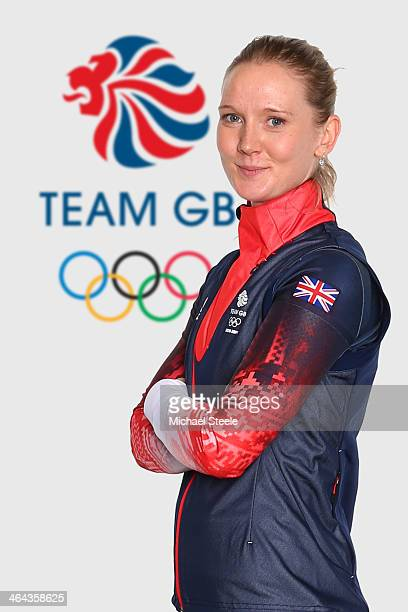 Amanda Lightfoot of Team GB Biothlon poses at the Team GB Kitting Out ahead of Sochi Winter Olympics on January 20 2014 in Stockport England