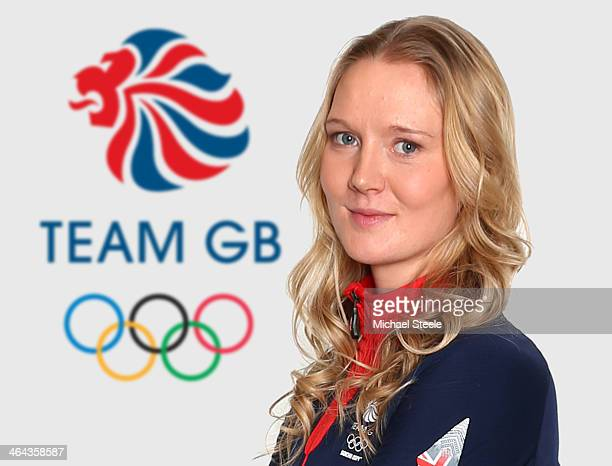 Amanda Lightfoot of Team GB Boiathlon poses at the Team GB Kitting Out ahead of Sochi Winter Olympics on January 20 2014 in Stockport England