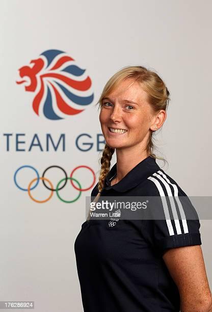 Amanda Lightfoot of the British Winter Olympic Biathlon Team poses for a portrait during the Team GB Winter Olympic Media Summit at Bath University...