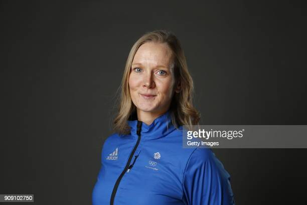Amanda Lightfoot poses during Team GB Kitting Out Ahead Of Pyeongchang 2018 Winter Olympic Games on January 22 2018 in Stockport England