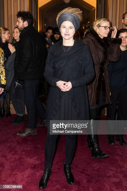 Amanda Lind attends a memorial for victims of the Holocaust at Stockholm's Great Synagogue on January 27 2019 in Stockholm Sweden