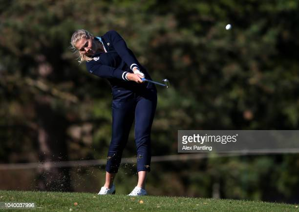 Amanda Linner of Team Europe during the singles on day two of the 2018 Junior Ryder Cup at Disneyland Paris on September 25 2018 in Paris France