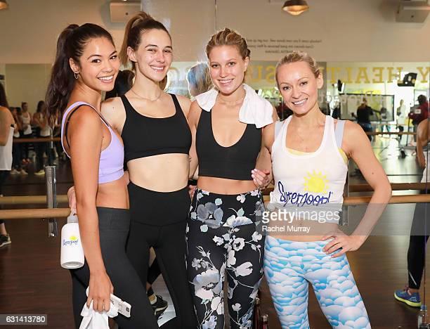 Amanda LiPaige Devon Carlson Paige Watkins and Simone De La Rue attend the Supergoop #ProtectYourPosse event with Maria Sharapova on January 10 2017...