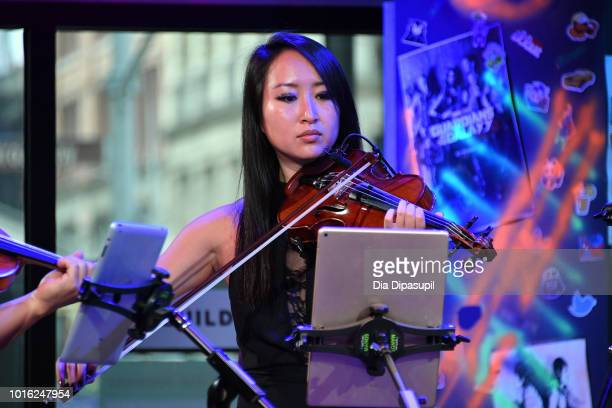 Amanda Lo of Vitamin String Quartet performs onstage during the Build Series at Build Studio on August 13 2018 in New York City