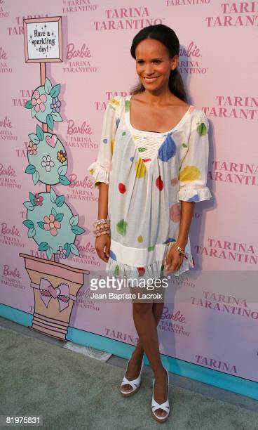 Amanda Luttrell Garrigus at the Pink Plastic Party for the launch of Tarina Tarantino's Barbie doll on July 17 2008 in Los Angeles California