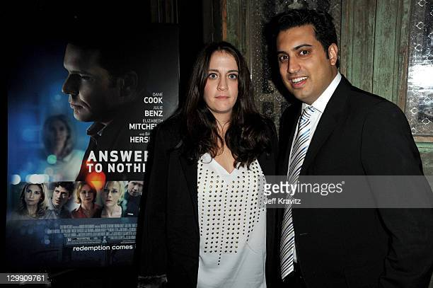 Amanda Marshall and Sim Sarna attends premiere party for Awnsers To Nothing at St Felix on October 21 2011 in Hollywood California