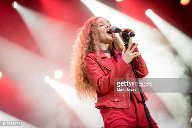 Amanda Marshall performs on Day 3 of the CityFolk Festival at The Great Lawn at Lansdowne Park on September 15 2017 in Ottawa Canada
