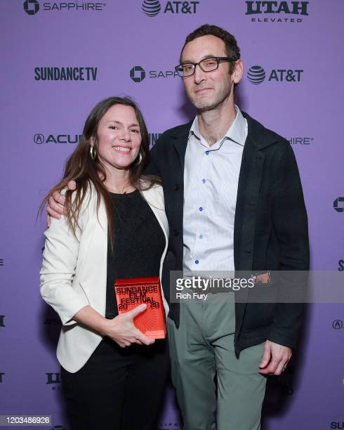 Amanda Mcbaine and Jesse Moss attends the 2020 Sundance Film Festival Awards Night Ceremony at Basin Recreation Field House on February 01 2020 in...