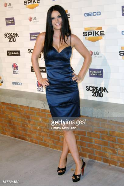 """Amanda McKay, Jeff Healey attend Spike TV's """"SCREAM 2010"""" at The Greek Theatre on October 16, 2010 in Griffith Park, California."""