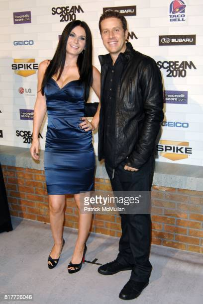 "Amanda McKay, Jeff Healey attend Spike TV's ""SCREAM 2010"" at The Greek Theatre on October 16, 2010 in Griffith Park, California."