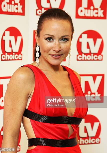 Amanda Mealing arrives at the TV Quick and TV Choice Awards at the Dorchester on September 8 2008 in London England