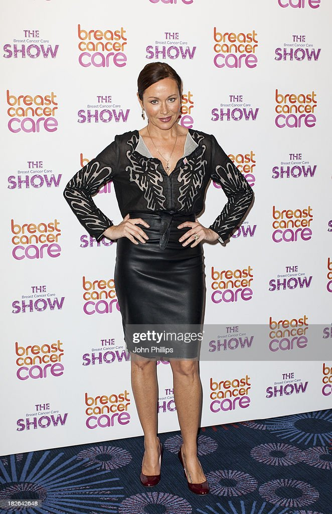Amanda Mealing attends the photocall ahead of the Breast Cancer Care Fashion Show at Grosvenor House, on October 2, 2013 in London, England.