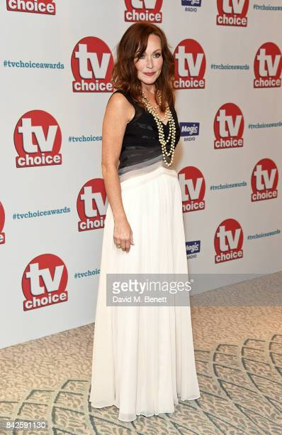 Amanda Mealing attends the TV Choice Awards at The Dorchester on September 4 2017 in London England
