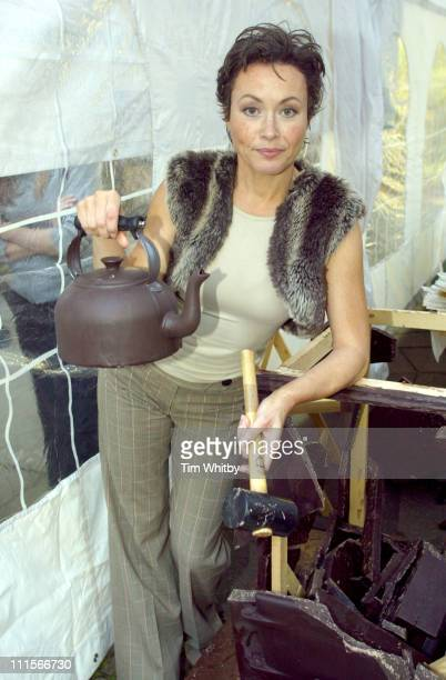 Amanda Mealing during Aga Launches Brand New Chocolate Colored Oven Photocall at Soho Square in London Great Britain