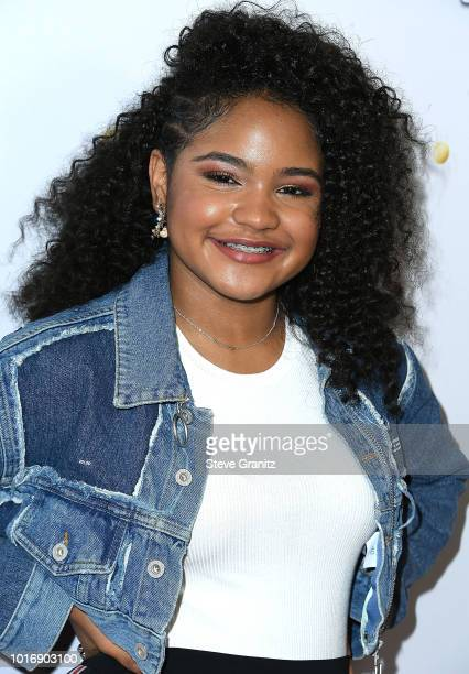 Amanda Mena arrives at the 'America's Got Talent' Season 13 Live Show Red Carpet at Dolby Theatre on August 14 2018 in Hollywood California