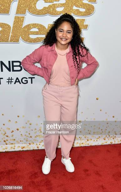 Amanda Mena attends 'America's Got Talent' Season 13 Live Show Red Carpet at Dolby Theatre on September 4 2018 in Hollywood California