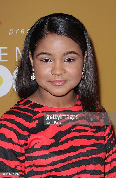 Amanda Mena attends Billboard Latin 2015 nominess press conference on February 9 2015 in Doral Florida
