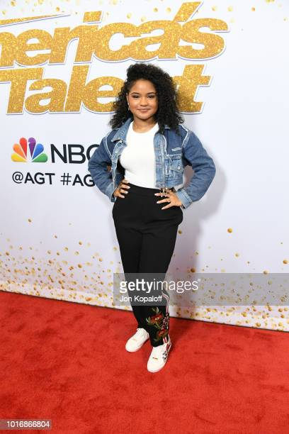 Amanda Mena attends the 'America's Got Talent' Season 13 Live Show at Dolby Theatre on August 14 2018 in Hollywood California