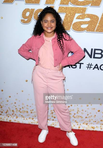 Amanda Mena attends the 'America's Got Talent' Season 13 Live Show at Dolby Theatre on September 4 2018 in Hollywood California