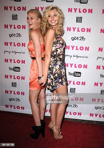 Amanda Michalka and Alyson Michalka attends Nylon Magazine's Young Hollywood Party at Tropicana Bar at The Hollywood Rooselvelt Hotel on May 12 2010...