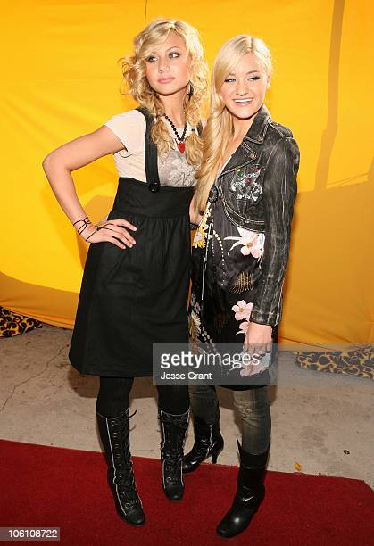 Amanda Michalka and Alyson Michalka of Aly AJ during Bogart Backstage 2006 Children's Choice Awards Honoring Hilary Duff at Hollywood Palladium in...