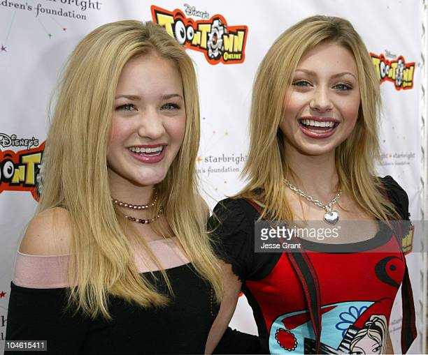Amanda Michalka and Alyson Michalka of Aly AJ during Disney's Toontown Online Takes Hollywood at The Hollywood Athletic Club in Hollywood California...