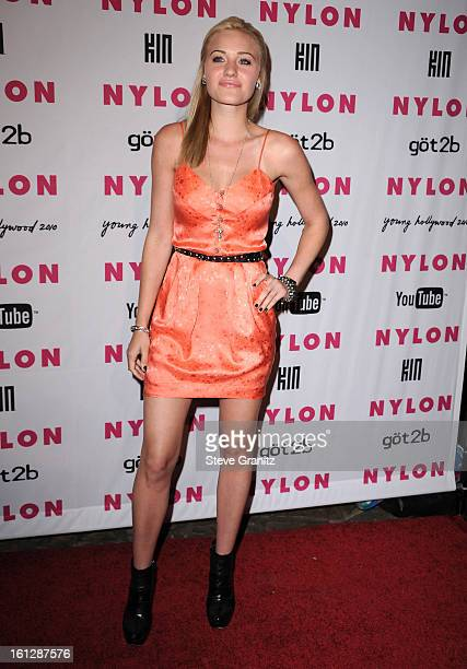 Amanda Michalka attends Nylon Magazine's Young Hollywood Party at Tropicana Bar at The Hollywood Rooselvelt Hotel on May 12 2010 in Hollywood...