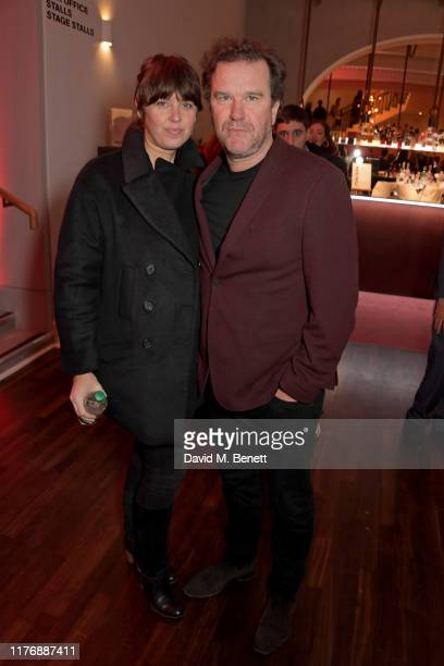 Amanda Miller and Douglas Hodge attend the press night after party for Lungs at The Old Vic Theatre on October 19 2019 in London England