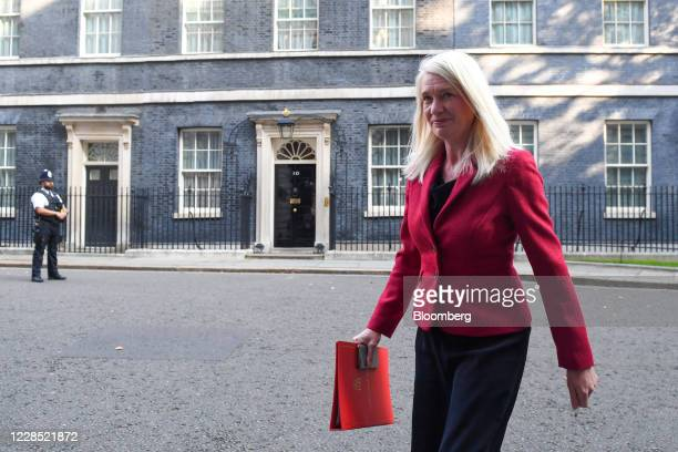 Amanda Milling chairman of the Conservative Party arrives for a meeting of cabinet ministers in London UK on Tuesday Sept 15 2020 UK Prime Minister...