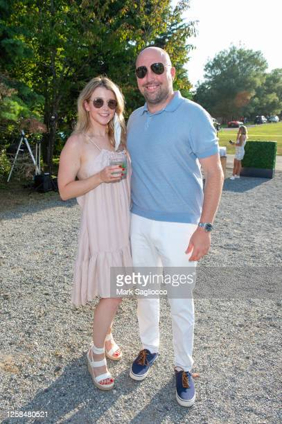 Amanda Montag and Joe Montag attend the Hamptons Magazine x The Chainsmokers VIP Dinner at The Barn at Nova's Ark on July 25, 2020 in Watermill, New...