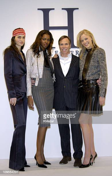 Amanda Moore Angela Marie Tommy Hilfiger and Morgan wearing 'H' Hilfiger Fall 2004