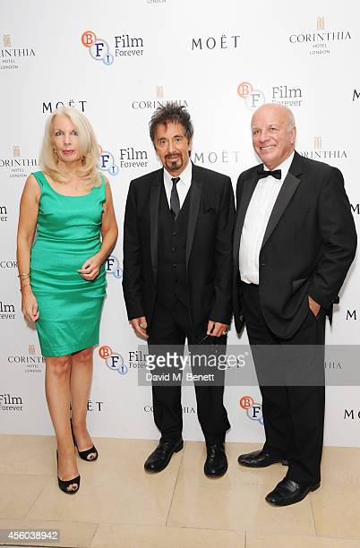Amanda Nevill Al Pacino and Greg Dyke arrive at the Al Pacino BFI Fellowship Dinner supported by Moet Chandon at the Corinthia Hotel London on...