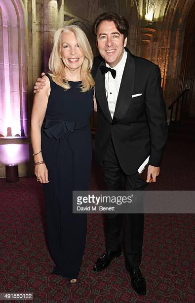 Amanda Nevill CEO of the BFI and Jonathan Ross attend a cocktail reception at the BFI Luminous Fundraising Gala in partnership with IWC and crystals...