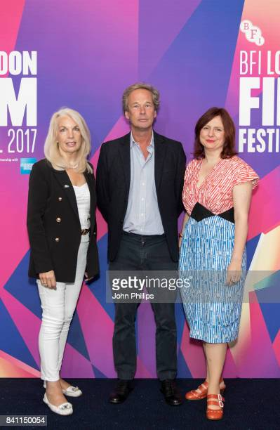 Amanda Nevill Jonathan Cavendish and Clare Stewart attend the BFI London Film Festival programme launch at Odeon Leicester Square on August 31 2017...