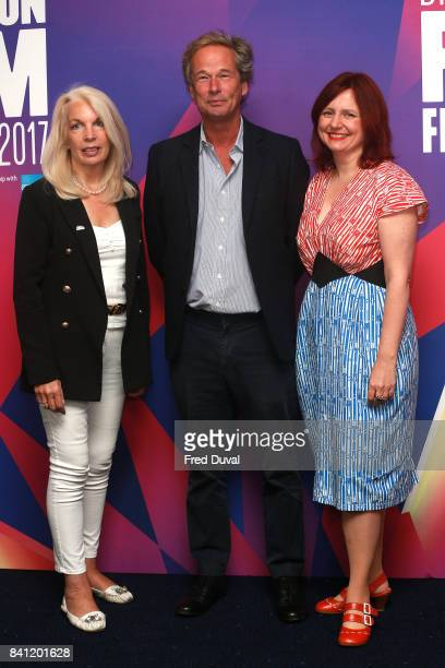 Amanda Nevill Jonathan Cavendish and Clare Stewart attend the BFI London Film Festival 2017 launch photocall at Odeon Leicester Square on August 31...