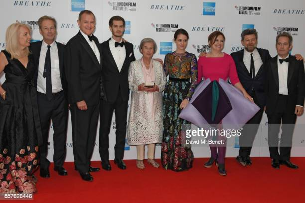 Amanda Nevill Jonathan Cavendish Hugh Bonneville Andrew Garfield Diana Cavendish Claire Foy Clare Stewart Andy Serkis and Tom Hollander attend the...