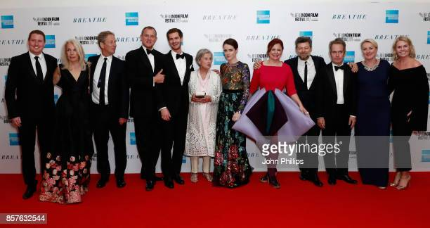 Amanda Nevill, producer Jonathan Cavendish, actors Hugh Bonneville, Andrew Garfield, Diana Cavendish, actress Claire Foy, BFI Head of Festivals Clare...