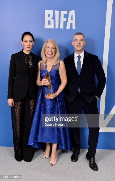 Amanda Neville wins the Special Jury Prize presented by Sian Clifford and Russell Tovey at the British Independent Film Awards 2019 at Old...