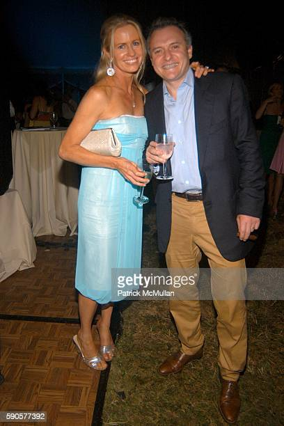 Amanda Newson and Martin Newson attend SAFARI SUMMER Benefit for the Departmant of Emergency at Southampton Hospital at Southampton on August 6 2005