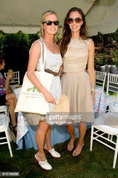 Amanda Newson and Olivia Chantecaille attend ONE KINGS LANE LUNCHEON AT 2010 HAMPTONS DESIGNER SHOWHOUSE at Designer Showhouse on July 26 2010 in Sag...