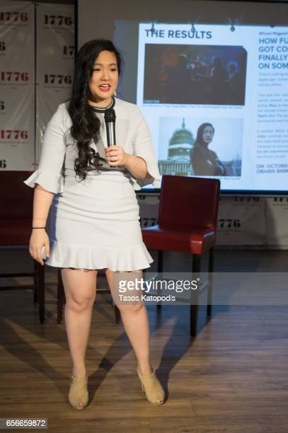 Amanda Nguyen attends Rise and Funny Or Die's PSA premiere hosted by Tatiana Maslany on March 22 2017 in Washington DC