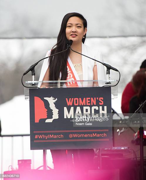 Amanda Nguyen attends the Women's March on Washington on January 21 2017 in Washington DC