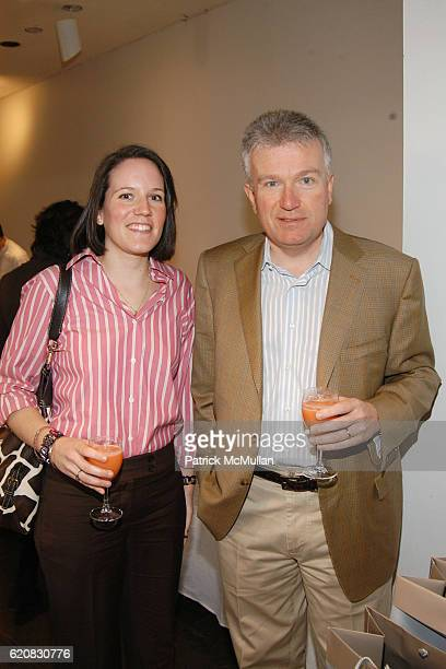 Amanda Niederauer and Duncan Niederauer attend GRAFF NETJETS Private Viewing Brunch Celebrating the 2008 WHITNEY BIENNIAL at Whitney Museum of...