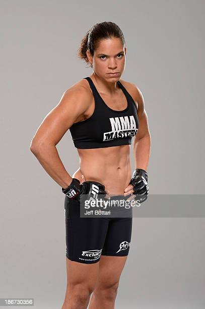 Amanda Nunes poses for a portrait during a UFC photo session on November 3 2013 in Nashville Tennessee