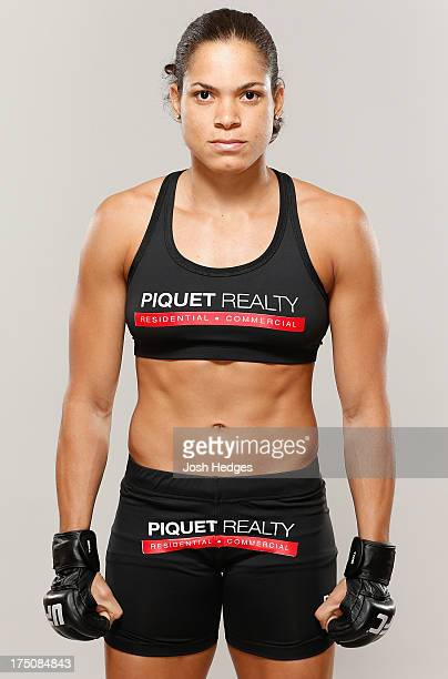 Amanda Nunes poses for a portrait during UFC 163 photo day at the Windsor Barra Hotel on July 31 2013 in Rio de Janeiro Brazil