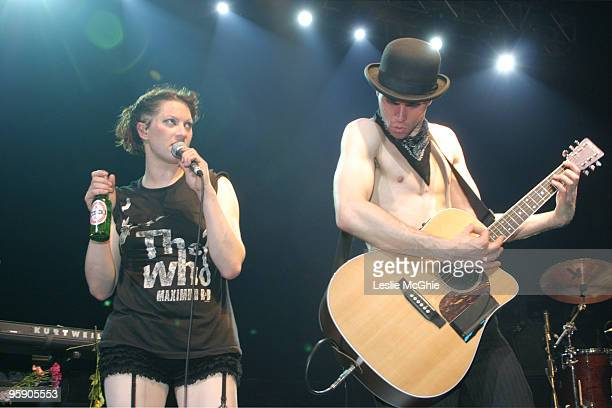 Amanda Palmer and Brian Viglione of The Dresden Dolls in concert