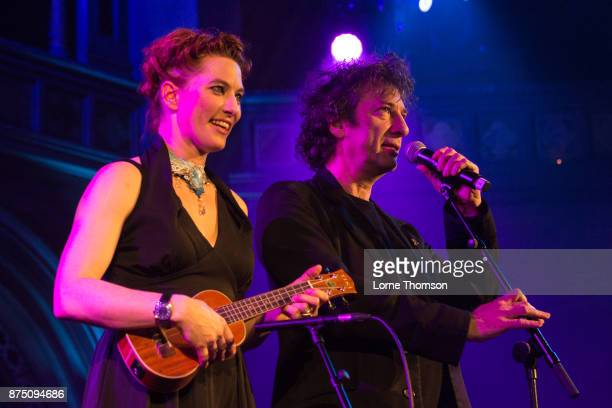 Amanda Palmer and Neil Gaiman perform at the Union Chapel on November 16 2017 in London England