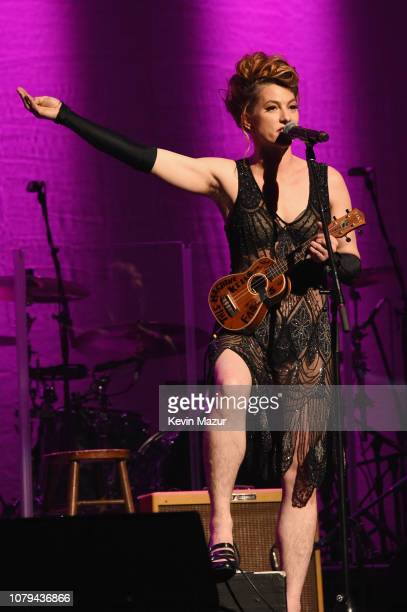 Amanda Palmer performs onstage during Cyndi Lauper's 8th Annual 'Home For The Holidays' Benefit Concert at Beacon Theatre on December 08 2018 in New...